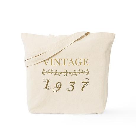1937 Vintage Gold Tote Bag