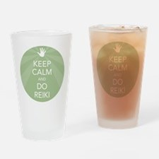 Keep Calm and Do Reiki Drinking Glass