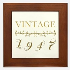 1947 Vintage Gold Framed Tile