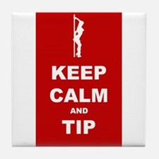 Tile Coaster Small Keep Calm and Tip
