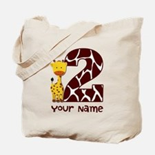 2nd Birthday Giraffe Tote Bag