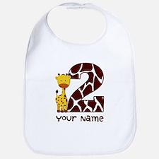 2nd Birthday Giraffe Bib