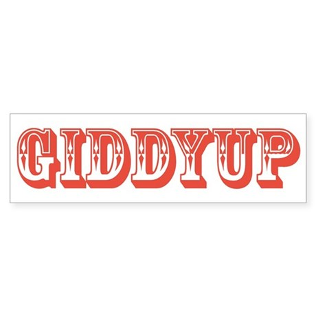 Giddyup Bumper Sticker