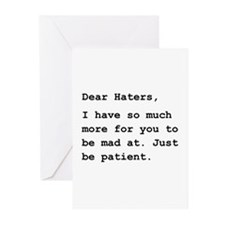 Dear Haters Greeting Cards (Pk of 20)