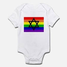 Jewish Gay Pride Infant Creeper