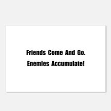 Enemies Accumulate Postcards (Package of 8)