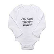 Hid The Body Long Sleeve Infant Bodysuit