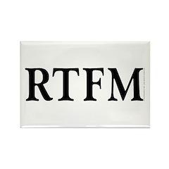 RTFM - Rectangle Magnet (10 pack)