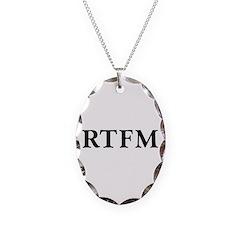 RTFM - Necklace Oval Charm