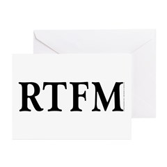 RTFM - Greeting Cards (Pk of 10)