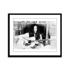 KITARO Retro Guitar Framed Panel Print