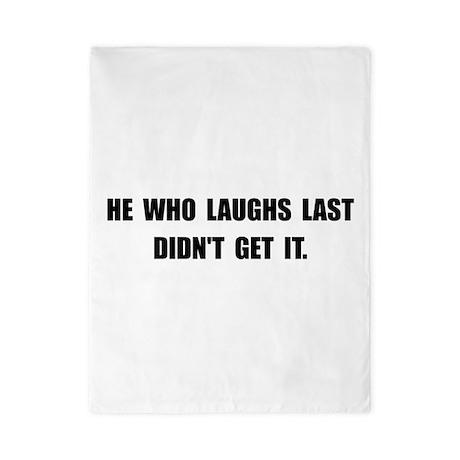 Laughs Last Twin Duvet
