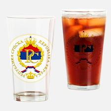 """Republika Srpska COA"" Drinking Glass"