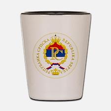 """Republika Srpska COA"" Shot Glass"