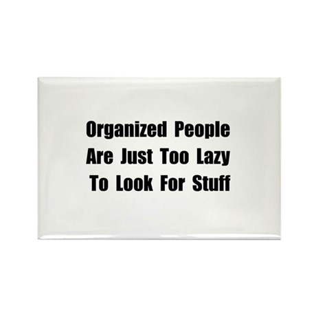 Organized People Rectangle Magnet (100 pack)