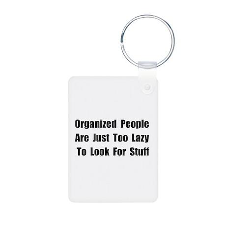 Organized People Aluminum Photo Keychain