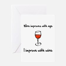 Wine Improves Greeting Card