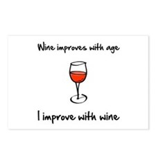 Wine Improves Postcards (Package of 8)