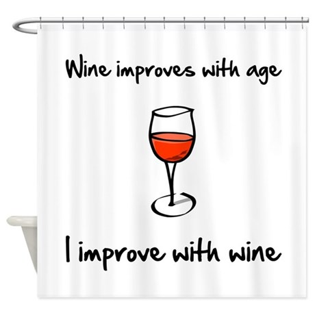 Wine Improves Shower Curtain