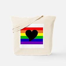 Rainbow Heart Tote Bag
