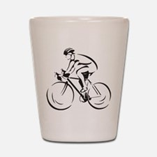 Bicycling Shot Glass