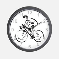 Bicycling Wall Clock