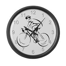 Bicycling Large Wall Clock