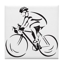 Bicycling Tile Coaster