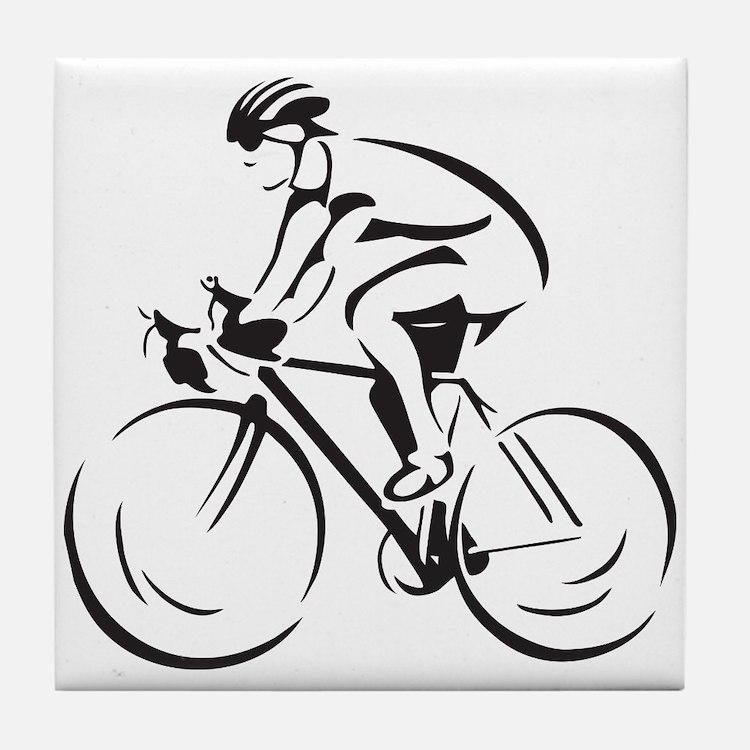 Bicycling Tile Coaster