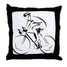Bicycling Throw Pillow