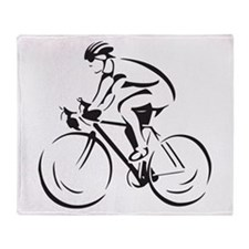 Bicycling Throw Blanket