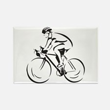 Bicycling Rectangle Magnet (10 pack)