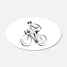 Bicycling 22x14 Oval Wall Peel