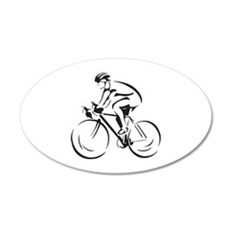 Bicycling 22x14 Oval Wall Peel