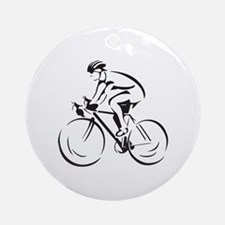 Bicycling Ornament (Round)