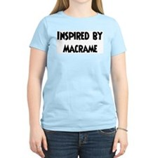 Inspired by Macrame Women's Pink T-Shirt