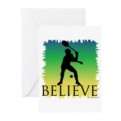 Believe (tennis) Greeting Cards (Pk of 20)