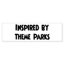 Inspired by Theme Parks Bumper Bumper Sticker