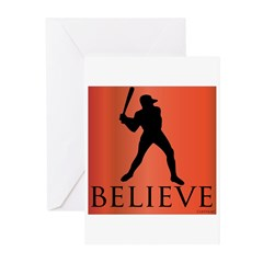 Believe (baseball player) Greeting Cards (Pk of 20