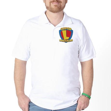 SuperLibrarianDrkT Golf Shirt