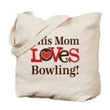 Mom Loves Bowling Tote Bag