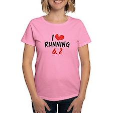 I heart (love) running 6.2 Tee