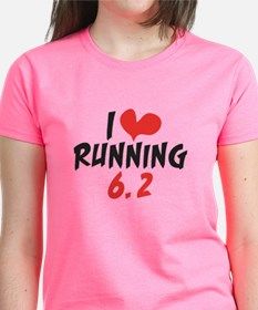I heart (love) running 6.2 Tee