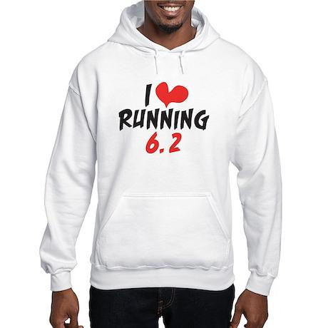 I heart (love) running 6.2 Hooded Sweatshirt