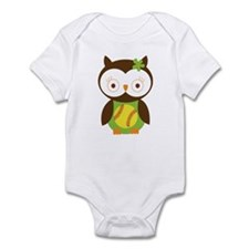 Softball Owl Infant Bodysuit