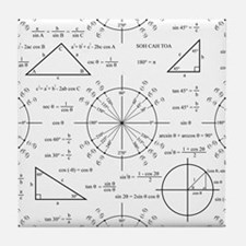 Trig and Triangles Tile Coaster
