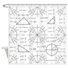 Trig and Triangles Shower Curtain