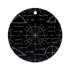 Trig and Triangles Ornament (Round)