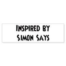 Inspired by Simon Says Bumper Bumper Sticker