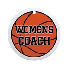 Womens Basketball Coach Gift Ornament (Round)